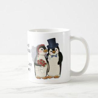 Penguin-Hochzeits-Braut-und Bräutigam-Krawatte - Kaffeetasse
