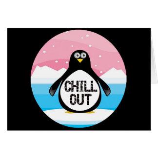 Penguin kühlen heraus lustige T - Shirt-Geschenke Grußkarte