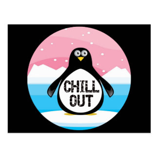 Penguin kühlen heraus lustige T - Shirt-Geschenke Postkarte