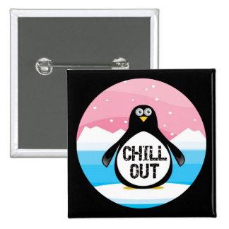 Penguin kühlen heraus lustige T - Shirt-Geschenke Quadratischer Button 5,1 Cm