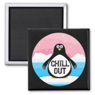 Penguin kühlen heraus lustige T - Shirt-Geschenke Quadratischer Magnet
