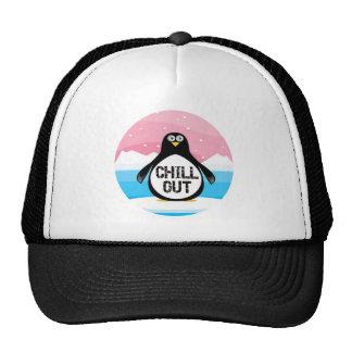 Penguin kühlen heraus lustige T - Shirt-Geschenke Retrokult Cap