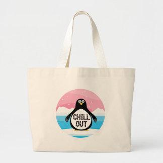 Penguin kühlen heraus lustige T - Shirt-Geschenke Leinentaschen