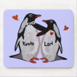 Penguin-Liebe-Paare Mousepads