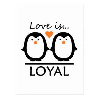 Penguin-Liebe Postkarte