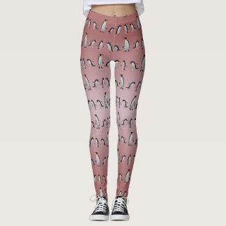 Penguin-Party-Gamaschen (staubige rosa Mischung) Leggings