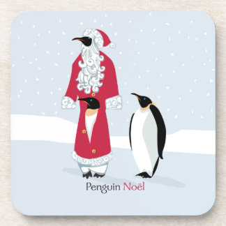 Penguin-Weihnachten Getränke Untersetzer