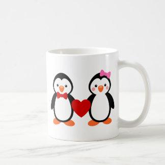Penguins in der Liebe Kaffeetasse
