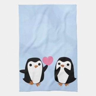 Penguins in der Liebe Küchentuch