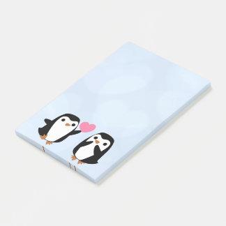 Penguins in der Liebe Post-it Klebezettel