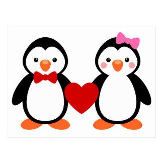 Penguins in der Liebe Postkarten