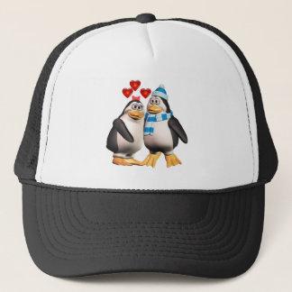 Penguins in der Liebe Truckerkappe