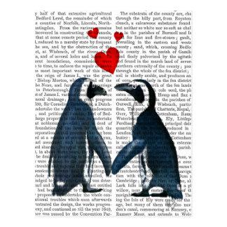 Penguins mit Liebe-Herzen Postkarte