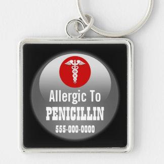Penicillin EIS-Medizineralarm | personifizieren Schlüsselanhänger