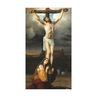 Penitent Magdalene am Fuß des Kreuzes Leinwanddruck