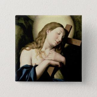 Penitent Magdalene Quadratischer Button 5,1 Cm