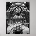 Penn Station New York City Vintag circa 1900 Poster