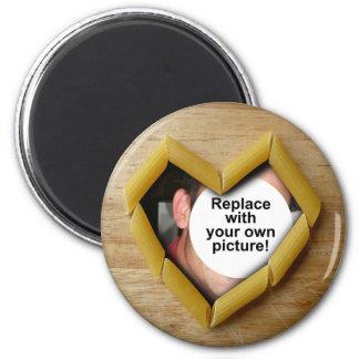 Penne Herz-Foto-Schablonen-Magnet Magnete