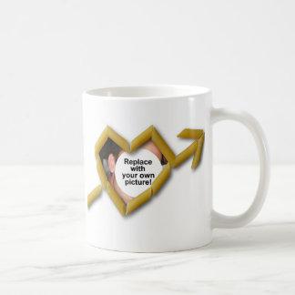 Penne Liebe-Foto-Schablonen-klassische weiße Tasse