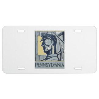Pennsylvania-Bergmann US Nummernschild
