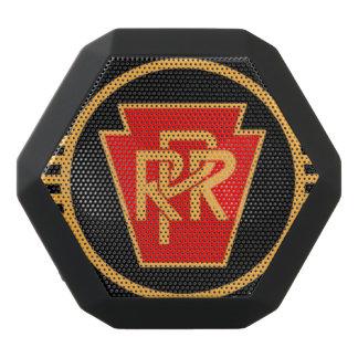 Pennsylvania-Eisenbahn-Logo, Schwarzes u. Gold Schwarze Bluetooth Lautsprecher