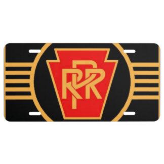 Pennsylvania-Eisenbahn-Logo, Schwarzes u. Gold US Nummernschild