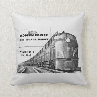 Pennsylvania-Eisenbahn-moderner Zug-Power Kissen