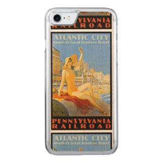 Pennsylvania-Eisenbahn nach Atlantic City Carved iPhone 8/7 Hülle
