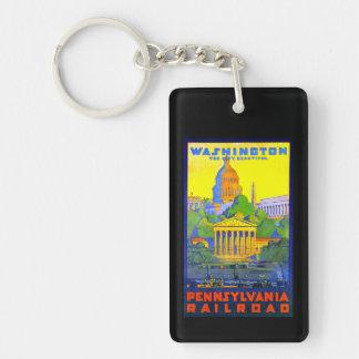 Pennsylvania-Eisenbahn zu Washington DC Schlüsselanhänger