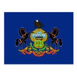 Pennsylvania-Flagge Postkarte