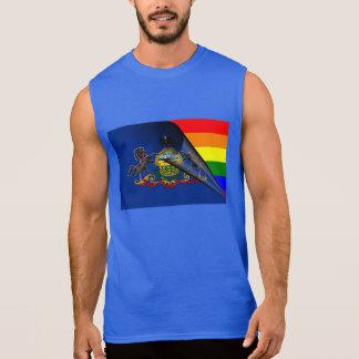 Pennsylvania-Flaggen-Gay Pride-Regenbogen Ärmelloses Shirt