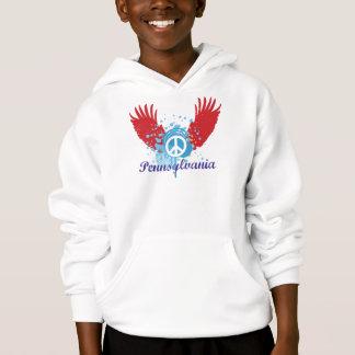 Pennsylvania-Friedenszeichen Hoodie