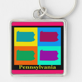 Pennsylvania-Karte Schlüsselanhänger