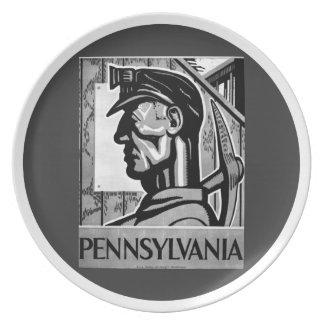 Pennsylvania-Kohlen-Plakat WPAgroßer Teller 1938