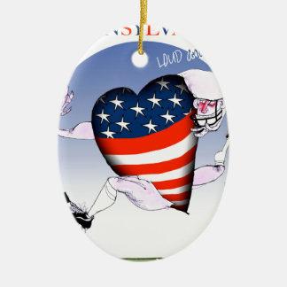 Pennsylvania laute und stolz, tony fernandes keramik ornament