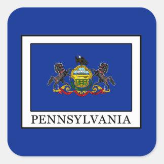 Pennsylvania Quadratischer Aufkleber