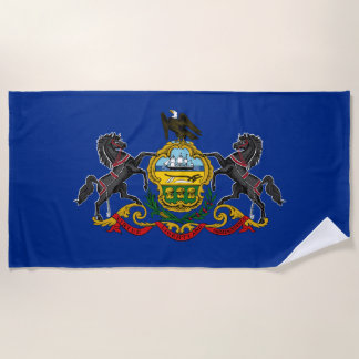 Pennsylvania-Staats-Flagge Strandtuch