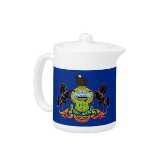 Pennsylvania-Staats-Flaggen-Teekanne