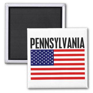 Pennsylvania, US Flagge Quadratischer Magnet