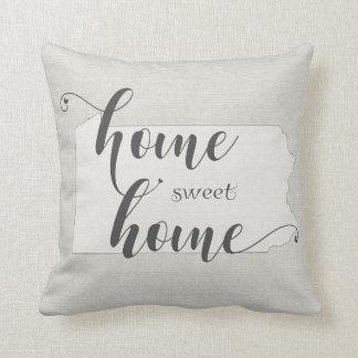 Pennsylvania - Zuhause-süßer Zuhause Leinwandblick Kissen