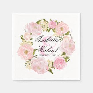 Penoy BlumenKranz-Hochzeit Papierservietten