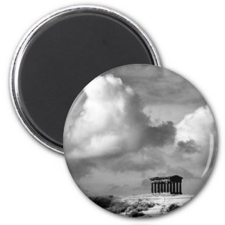 Penshaw Monument-Magnet Runder Magnet 5,7 Cm