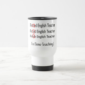 Pensionierte Englischlehrer-Geschenke Reisebecher