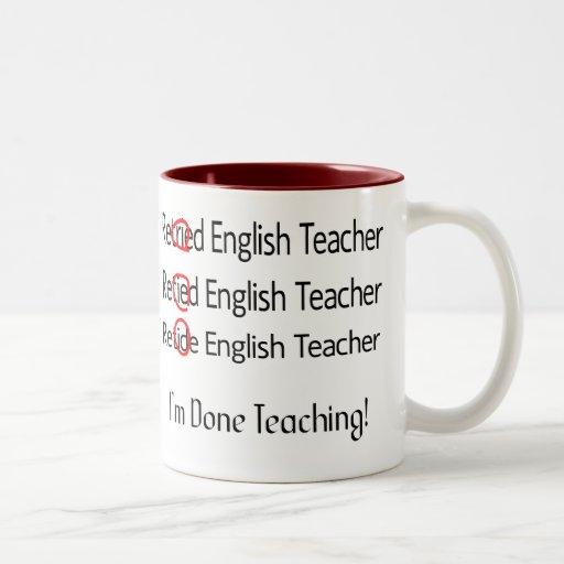 Pensionierte Englischlehrer-Geschenke Teehaferl