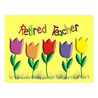 Pensionierte Lehrer-Tulpe-Entwurfs-Geschenke Postkarten