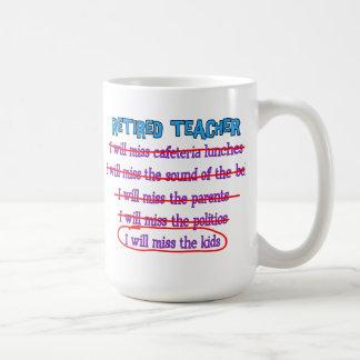Pensionierte lustige Geschenke Lehrer- ich werde F Kaffee Tasse