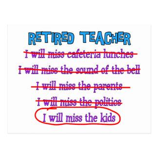 """Pensionierte lustige Geschenke Lehrer-""""ich werde Postkarte"""