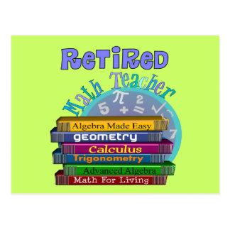 Pensionierte Mathe-Lehrer-Geschenke Postkarte
