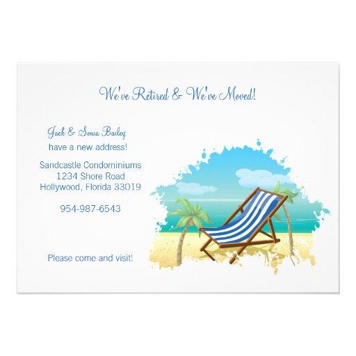 Pensionierte und bewegte Mitteilung Personalisierte Einladungskarte