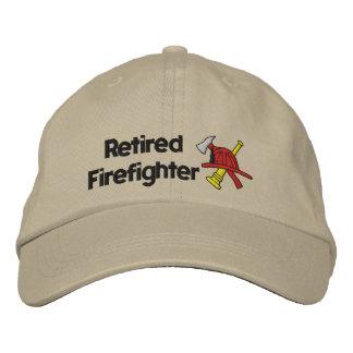 Pensionierter Feuerwehrmann gestickter Hut Bestickte Baseballkappe